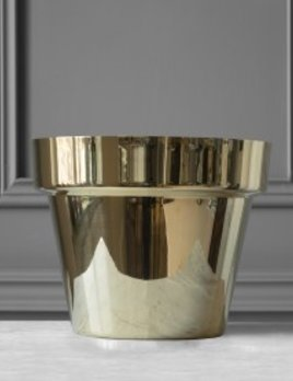 Skultuna Skultana - Gold Flower Pot - Medium - H21cm, 26cm