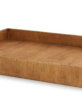 Aerin AERIN - Gold Linen Butler Tray - 71x45.5x7.5cm