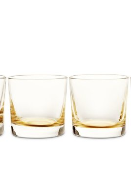 "Aerin AERIN - Gold Crystal Glasses - Set of 4 - Dimensions: 3""h x 3.25""w"