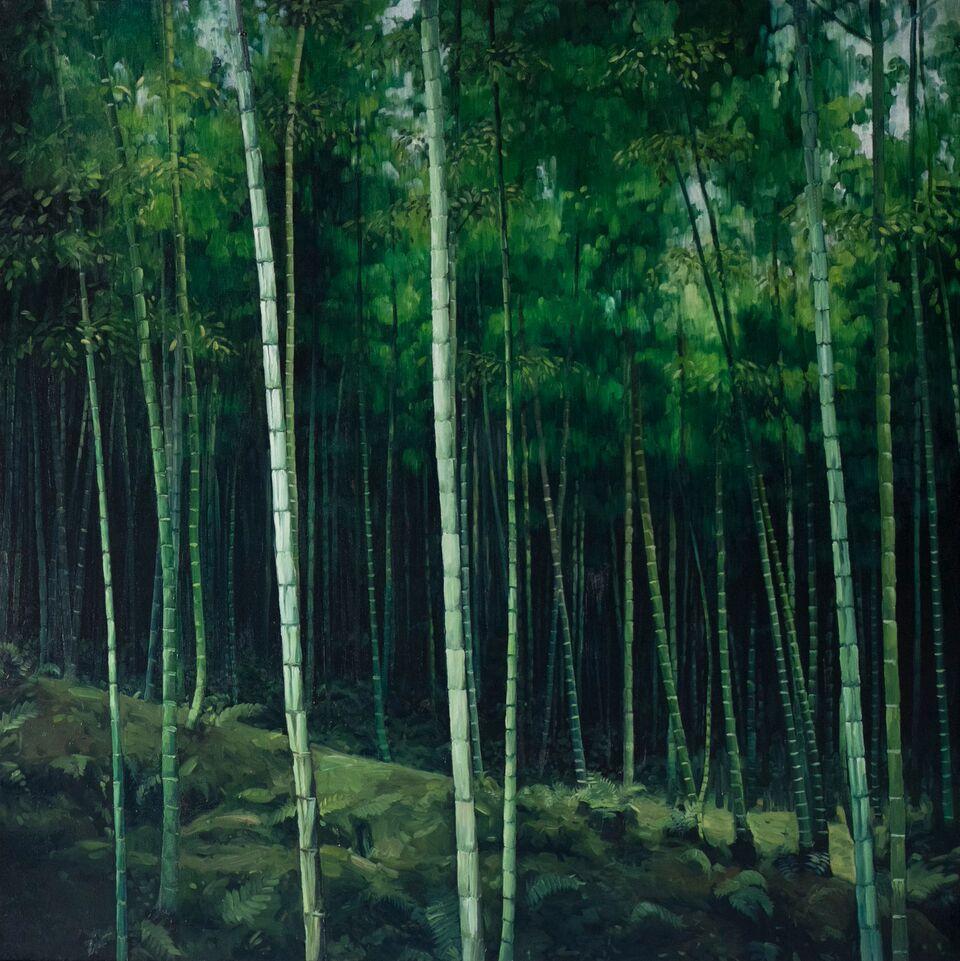 Arashiyama 2, Kyoto 2015 - James King - 120x120cm
