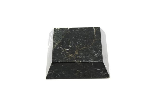 Bey-Berk International Small Marble Plinth, stand or paper weight - Black Zebra