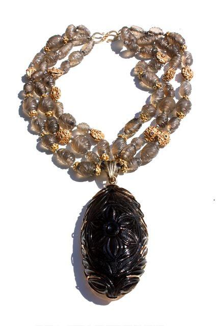 B.M.V.A. Incredible Smokey Quartz Necklace, Circa 1960