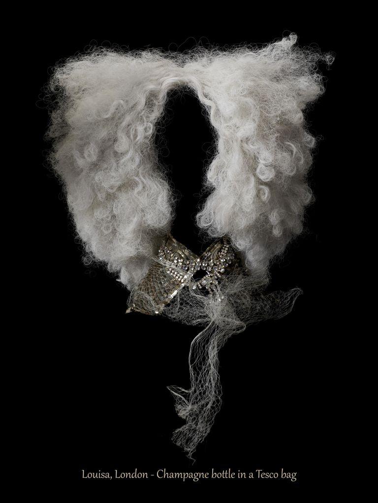 Juli Balla - Photograph - Persona non grata - Louisa, London - Champagne bottle in a Tesco bag - Pigment prints on cotton rag art paper - 100x133cm - Editions of 3