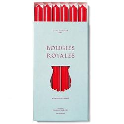Cire Trudon Cire Trudon Royales Taper Candles - Box of 6 - Red - 28cm