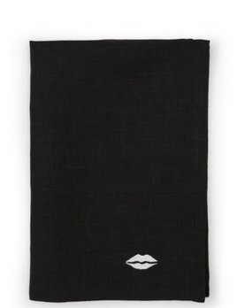 Kelly Wearstler Kelly Wearstler - Kiss Dinner  Napkins - Black Linen