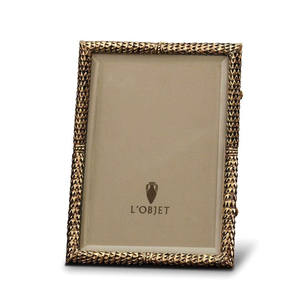 "L'Objet L'Objet - Scales Frame - 24ct Gold Plated - 5x6"""