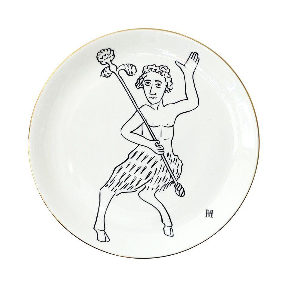 BECKER MINTY HMS Studio Plate - Roman Graffiti Plate - Waving Pan - D26.5cm
