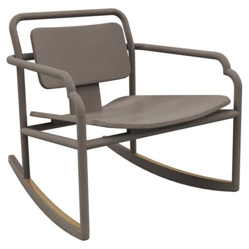 Akar de Nissim Akar De Nissim - MARCEAU - Rocking Chair - Chaise a Bascule - L75xW64.7xH66.4cm - Colour, Poudre - custom made to order