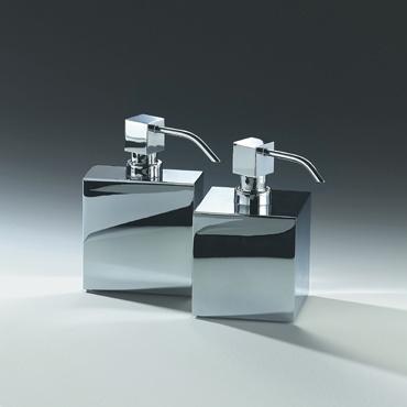 DW - Soap Dispenser Pump - Rectangular - Chrome - 9.5x4.5x15cm - Germany