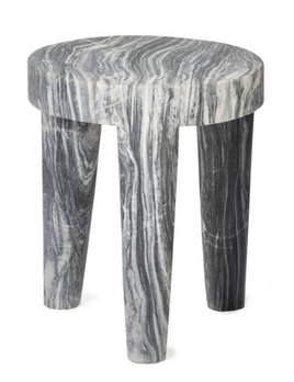 Kelly Wearstler Kelly Wearstler - Large Tribute Stool - Grey Marble - 38x46cm