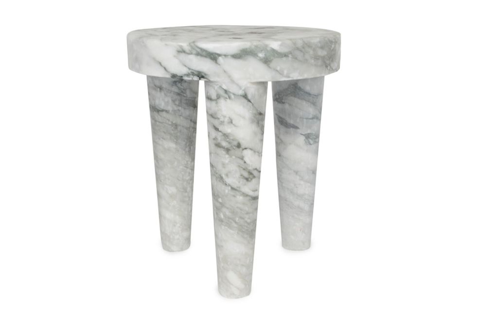 Kelly Wearstler Kelly Wearstler - Small Tribute Stool - Big Flower Marble <br />