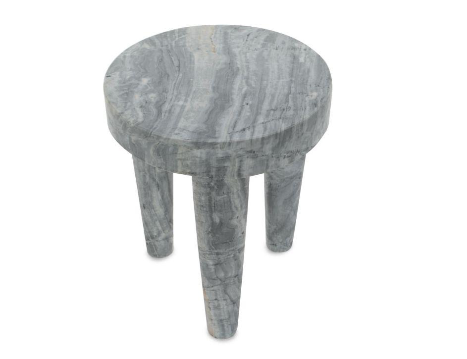 Kelly Wearstler Kelly Wearstler - Small Tribute Stool - Grey Marble - 30.5x38cm