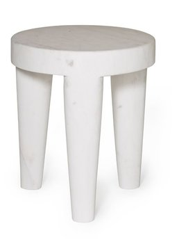 Kelly Wearstler Kelly Wearstler - Small Tribute Stool - White calcutta marble - 30.5x38cm