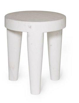 Kelly Wearstler Kelly Wearstler - Small Tribute Stool - White calcutta marble - 30.5x38cm