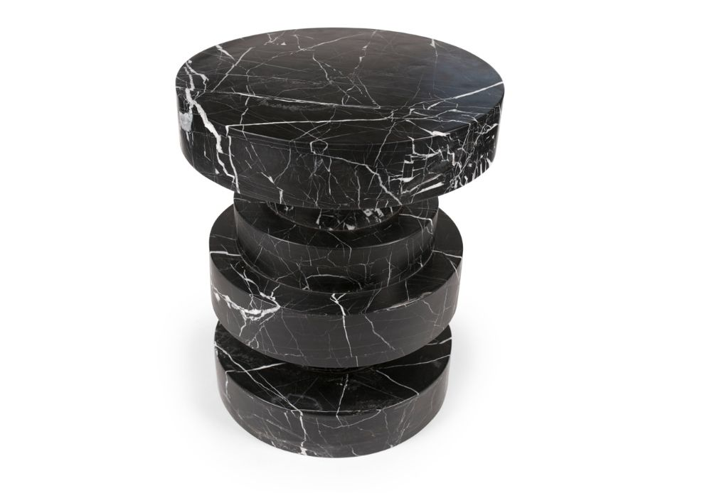 Kelly Wearstler Kelly Wearstler - Apollo Stool - Negro marquina marble <br />
