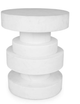 Kelly Wearstler Kelly Wearstler - Apollo Stool - White calacatta marble <br />