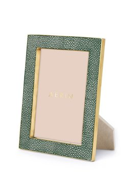 "Aerin AERIN - Classic Embossed Shagreen Frame - Emerald - 5x7"" - Dims 8.5""x6.5""x1.3"""