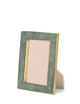 Aerin AERIN - Classic Embossed Shagreen Frame -  Emerald - 4x6""