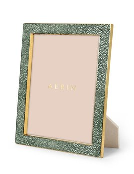Aerin AERIN - Classic - Embossed Shagreen Frame - Emerald - 8x10""