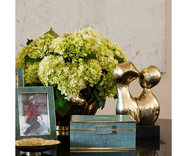 "Aerin AERIN - Emerald Embossed Shagreen Jewellery Box - Small - 9"" x 7"" x 4"""