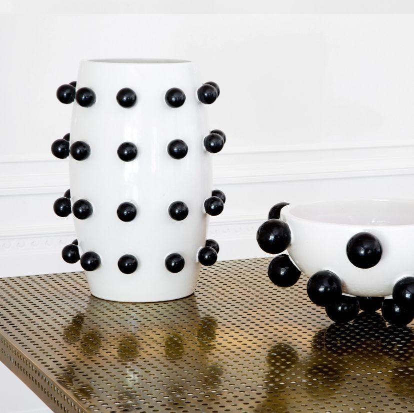 Kelly Wearstler Kelly Wearstler - Pop Vase - Black and White Ceramic - 18x23cm