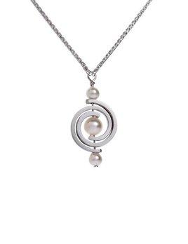 martha seely Martha Seely Design - INSPIRO Single Petite Pearl Spiral Pendant.