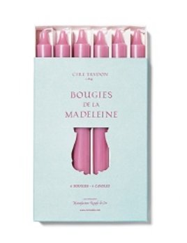 Cire Trudon Cire Trudon Madeleine Taper Candles - Boxed set of 6 - Rose - 20cm