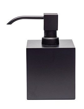 DW - Soap dispenser - Large Square - Matte Black - 8x8x14cm - Made in Germany