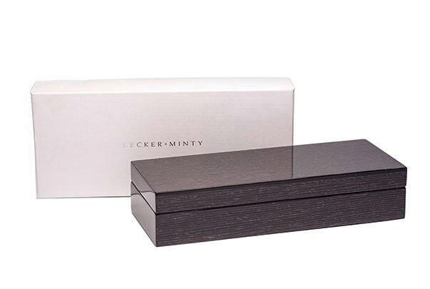 BECKER MINTY BECKER MINTY - Black Apricot Veneer Rectangular Box 25x10x5.5cm