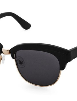 Nick Campbell Eyewear - Condor - Black and Rose Gold with Dark Lenses