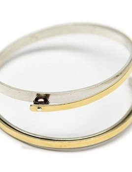 martha seely Martha Seely Design - TRANSITION Two Tone Gold Bangle.