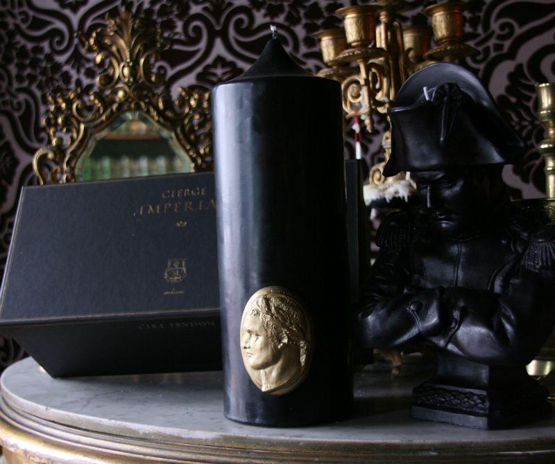 Cire Trudon Cire Trudon - Cierge Imperial - Black Pillar Candle - 25cm tall