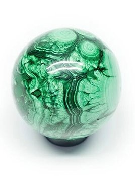 Malachite Sphere 5.5cm approx - each sphere varies slightly in colour and pattern
