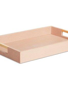 Aerin AERIN - Modern Blush Embossed Shagreen Desk Tray - 37.5x24x4.5cm