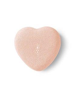 Aerin AERIN - Embossed Shagreen Heart Box - Blush