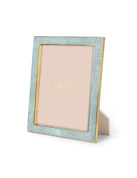Aerin AERIN - Classic Embossed Shagreen Frame - Seafoam 8x10'