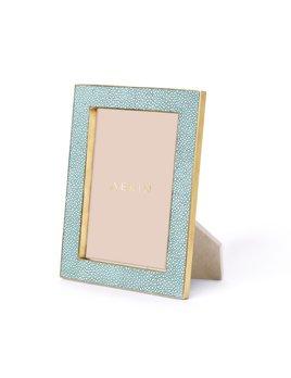 Aerin AERIN - Classic Embossed Shagreen Frame - Seafoam - 5x7'