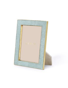 Aerin AERIN - Classic Embossed Shagreen Frame - Seafoam - 4x6'
