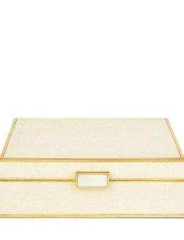 Aerin AERIN - Cream Embossed Shagreen Jewellery Box - Large