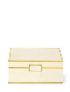 Aerin AERIN - Cream Embossed Shagreen Jewellery Box - Small