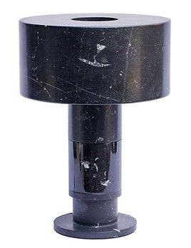 Gilles Caffier Gilles Caffier - Black Marble Lamp - H51cm - Shade H18xD36cm