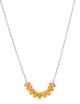 Olly & Rose - 9 Stone Spessartite (Mandarin Garnet) and 18ct White Gold Necklace - Australia