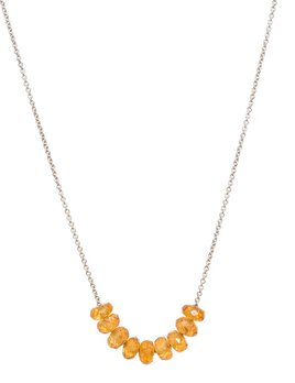 Olly & Rose - Nine Stone Spessartite (Mandarin Garnet) and 18ct White Gold Necklace - Australia