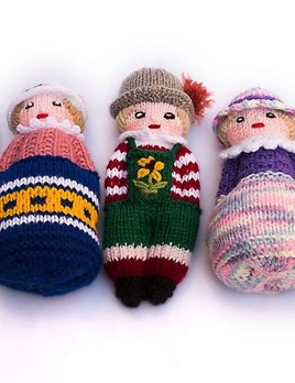 Generic Hand knitted woollen toys assorted colours - The Little People - small
