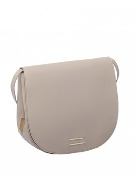 Front Row Society - Lara - Leather Saddle Handbag - Beige - 22x25x9cm