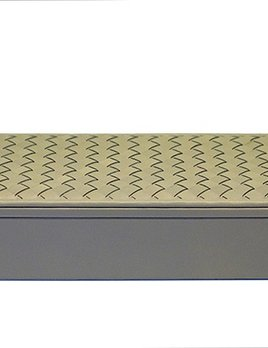 Riviere Riviere - Leather Retangular Woven Box - Grey - Handmade in Italy - 25x10x5.5