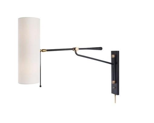 Aerin AERIN - Fanfork Articulating Wall Light Black