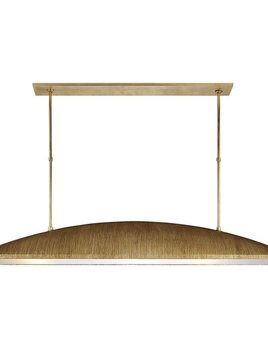 Kelly Wearstler Kelly Wearstler - Utopia Large Linear Pendant in Gild with Frosted Acrylic - Height: 31.5""