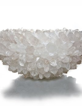 "kathryn mccoy Inside Out XL Clear Quartz Bowl - 17"" Made in USA"