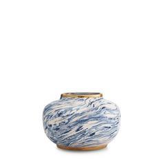 Aerin AERIN - Marbleized Clay Oval Vase